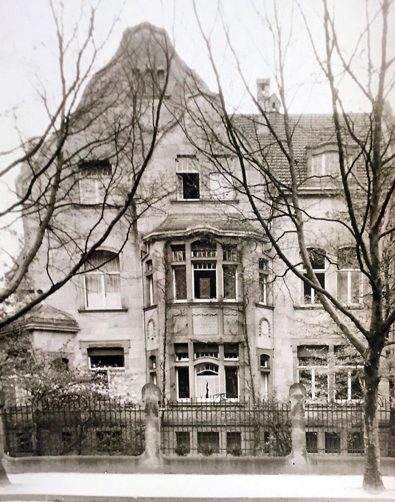 Die Villa Achenbach im Originalzustand