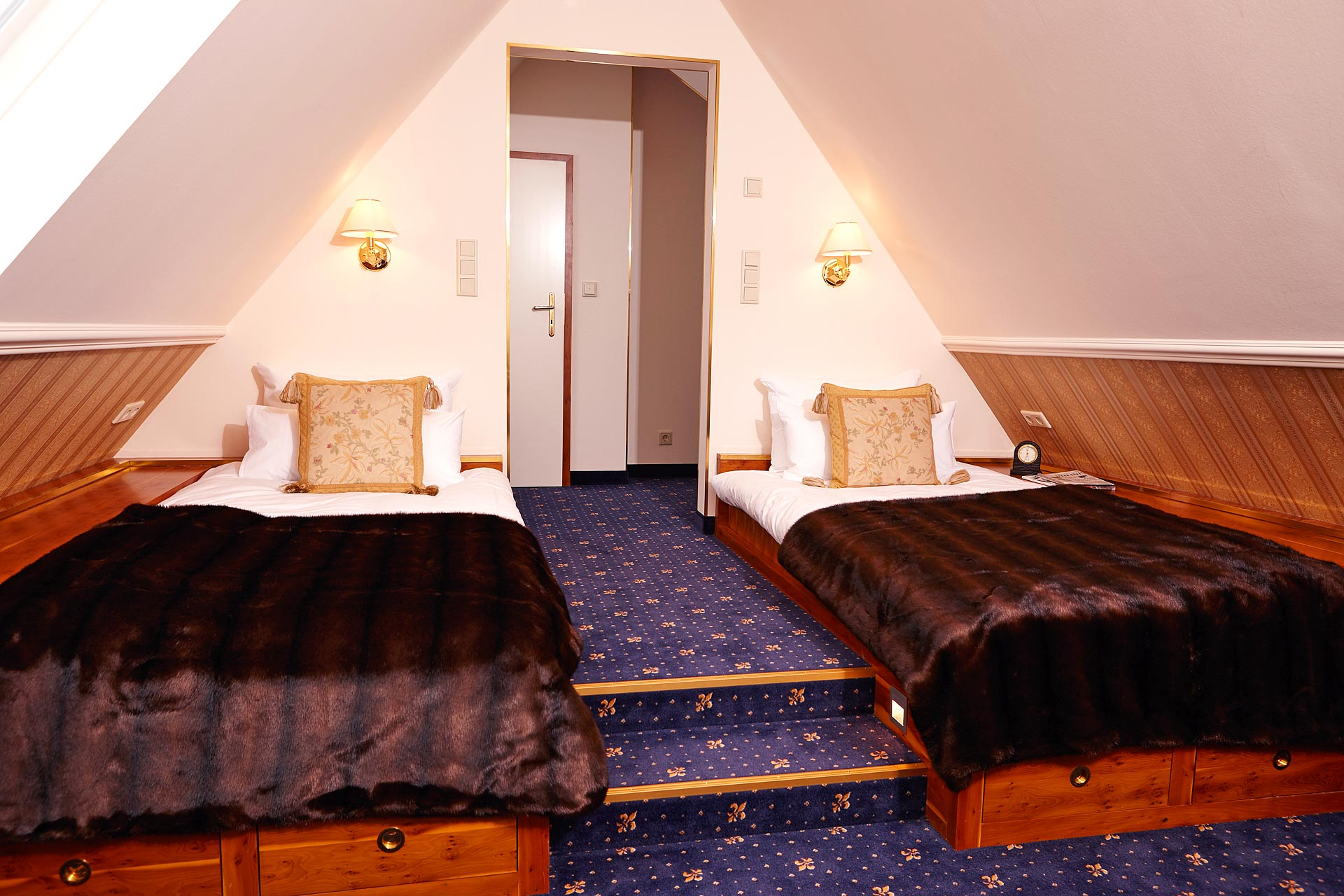 Chambre double avec lits séparés