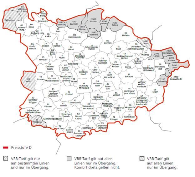Karte VRR- Preisstufe D